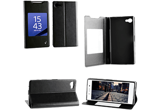 VOLTE-TEL SONY XPERIA Z5 PREMIUM E6833 LEATHER-TPU VIEW BOOK STAND BL