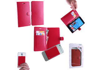 "VOLTE-TEL ΘΗΚΗ UNIVERSAL 4.5-5.1"" LEATHER BOOK MAGNET 3M Red - (8158384)"