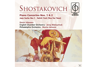 Mariss Jansons, Maksymiuk Jerzy, English Chamber Orch, Philadel - Shostakovich: Piano Concertos Nos. 1&2, Jazz Suite No.1, Tah - (CD)
