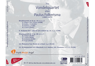 The Vondelquartet - Plays Paulus Folkertsma - (CD)