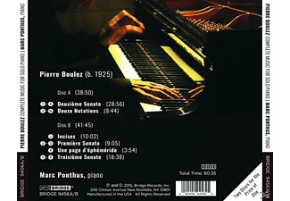 Marc Ponthus - Complete Music For Solo Piano - (CD)
