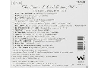 Eleanor Steber - The Eleanor Steber Collection Vol.1 [CD]