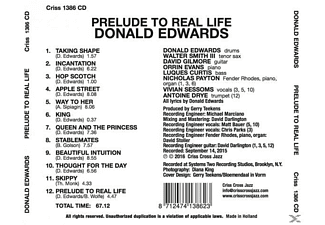 Donald Edwards - Prelude To Real Life - (CD)