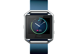 FITBIT  Blaze Fitness Watch, 170-205 mm, Blau/Silber