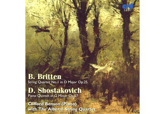 The Alberni Quartet & Clifford Benson, Clifford/alberni String Quartet Benson - Britten Quartet/Shostakovich Quintet - (CD)