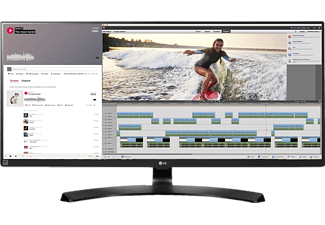 LG 34UM88-P, Monitor mit 86.36 cm / 34 Zoll, 5 ms Reaktionszeit, Anschlüsse: 2x HDMI, 1x DisplayPort 1.2, 1x PC Audio, 1x USB 3.0 (1 upstream / 2 downstream), inklusive USB Quick Charge für Port 1, 1x 3.5 mm Klinke, 2x Thunderbolt 2