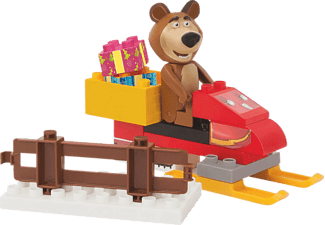 BIG Bloxx MB Bear's Snowmobile