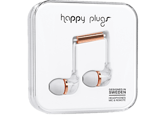 HAPPY PLUGS IN-EAR - Vit Marmor/ Rosa Guld