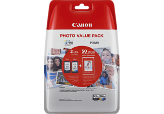 CANON PG-545XL/CL-546XL Tintenpatrone Photo Value Pack mehrfarbig (8286B006AA)