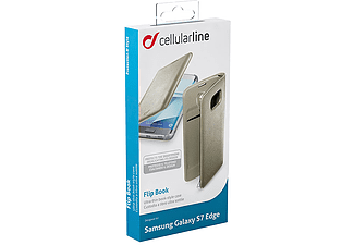CELLULAR LINE Flip Book Case Galaxy S7 Edge Gold - (BACKBOOKGALS7EH)