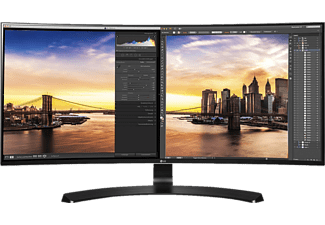 LG 34UC88-B, Monitor mit 86.36 cm / 34 Zoll, 5 ms Reaktionszeit, Anschlüsse: 2x HDMI, 1x DisplayPort, 1x USB 3.0 (1 upstream / 2 downstream), 1x inklusive USB Quick, 1x Charge für Port 1,  1x 3.5 mm Klinke
