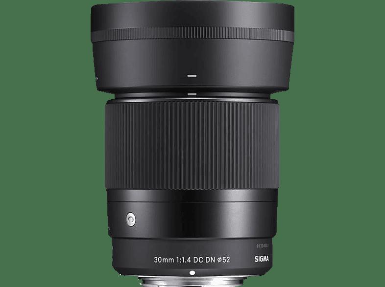 SIGMA 30mm 1.4 DC DN Contemporary Objektiv, f/1.4 DC, Festbrennweite, System: MFT, Schwarz