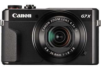 CANON PowerShot G7 X Mark II Kompaktkamera, 20.1 Megapixel, CMOS Sensor, Near Field Communication, WLAN, 24-100 mm Brennweite, Schwarz