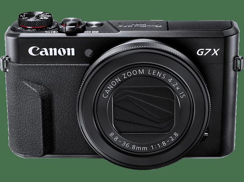 CANON PowerShot G7 X Mark II Digitalkamera, 20.1 Megapixel, 4.2x opt. Zoom, Schwarz