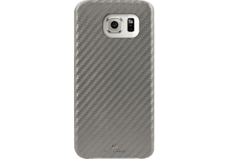 BLACK ROCK Flex-Carbon Backcover Samsung Galaxy S7 Kunststoff/Mikrofaser/Polycarbonat (PC) Silber