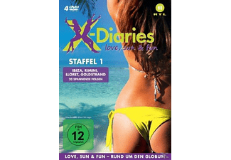 X-Diaries - Love, Sun & Fun, Staffel 1 - (DVD)