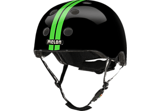 MELON Urban Active STRAIGHT GREEN BLACK GLOSSY XL-XXL  (XL-XXL, 58-63 cm, Schwarz/Grün)