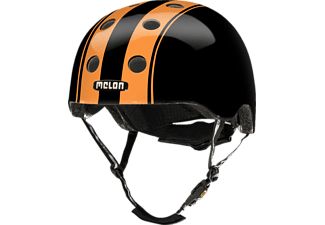 MELON Urban Active DOUBLE ORANGE BLACK GLOSSY XXS-S  (XXS-S, 46-52 cm, Schwarz/Orange)