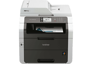 BROTHER MFC-9332CDW, 4-in-1 LED-Multifunktionsdrucker (Farbe), Weißgrau
