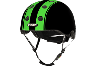 MELON Urban Active DOUBLE GREEN BLACK GLOSSY XXS-S Fahrradhelm