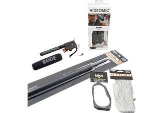 RODE Video Mic Bundle, Mikrofon und Tonangel, Schwarz