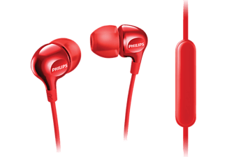 PHILIPS SHE3705BK, In-ear Kopfhörer, Rot