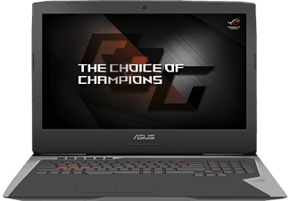 ASUS G752VS-GC089T, Notebook mit 17.3 Zoll Display, Core™ i7 Prozessor, 32 GB RAM, 512 GB SSD, 512 GB SSD, GeForce GTX 1070, Grau