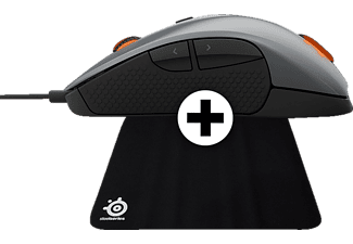 STEELSERIES RIVAL 300 Silver - (DCA.P/C.06087) + Mousepad QCK