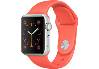 APPLE Watch Sport 38 mm - Silver Aluminium/Aprikos