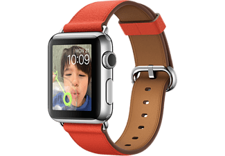 APPLE Watch 38 mm - Steel/Red Classic Buckle