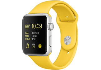 APPLE Watch Sport 42 mm - Silver Aluminium/Gul