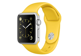APPLE Watch Sport 38mm zilver aluminium / geel sportbandje