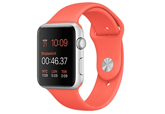 APPLE Watch Sport 42mm zilver aluminium / abrikoos sportbandje