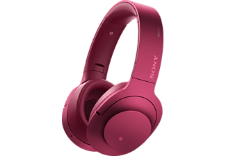 SONY MDR-100 ABN, Over-ear Kopfhörer, Near Field Communication, Bluetooth, Pink