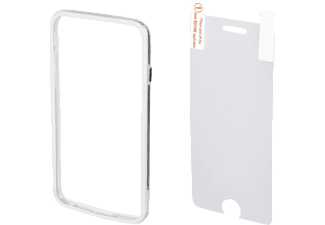 HAMA Edge Protector, Cover +  Displayfolie, iPhone 6/6s, Weiß