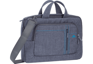 RIVACASE 7520 Grey Canvas Laptop bag 13.3""