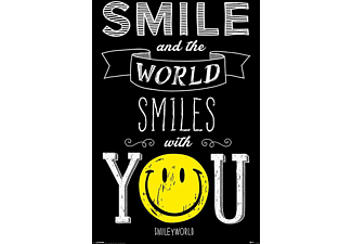 Smiley Poster Smile And The World Smiles..