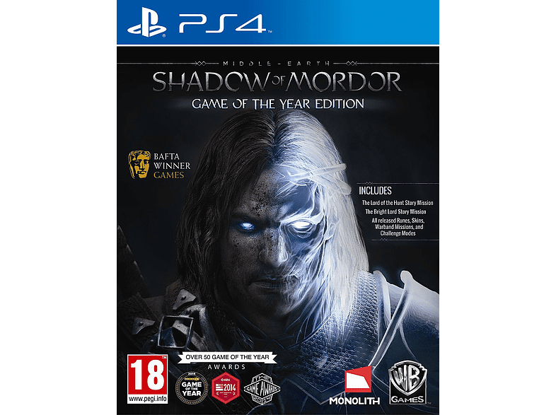 Middle Earth: Shadow of Mordor Game of The Year PlayStation 4 gaming games ps4 games