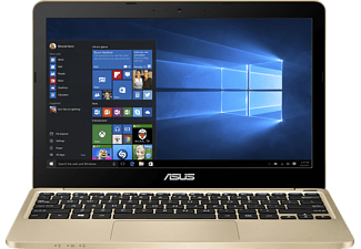 ASUS E200HA-FD0043TS, Notebook mit 11.6 Zoll Display, Atom™ x5 Prozessor, 2 GB RAM, 32 GB eMMC, HD-Grafik 400, Gold