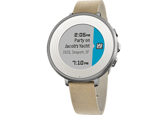 PEBBLE Time Round 14mm Zilver/Beige