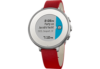 PEBBLE Time Round 14mm Zilver/Rood