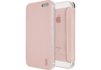 ARTWIZZ SmartJacket, Bookcover, Apple, iPhone SE, Polyurethan (gebürstetes Metall-Design), Rosegold