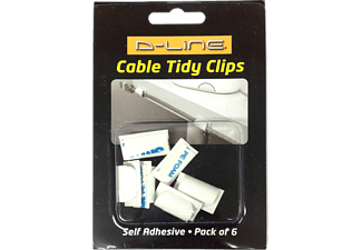 D-LINE Cable Tidy Clips, Kabelclip, Weiß