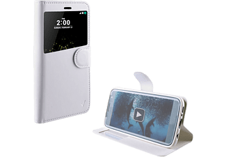 VOLTE-TEL Θήκη LG G5 H850 Leather-Tpu View Book STand White- (5205308161827)