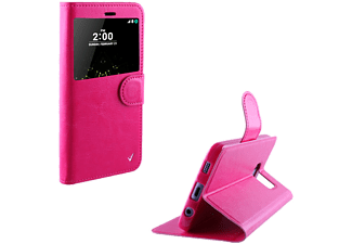 VOLTE-TEL Θήκη LG G5 H850 Leather-Tpu View Book Stand Pink- (5205308161834)