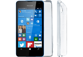 VOLTE-TEL Θήκη Microsoft LUMIA 550  Leather White-TPU Book Stand - (8157660)
