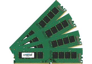 CRUCIAL 64GB Kit DDR4 2133 MT/s 16GBx4 DIMM 288pin DR x8 unbuffe, 64 GB