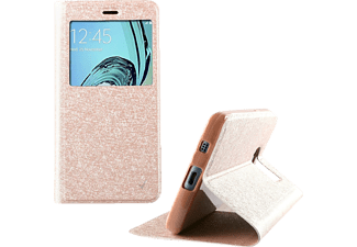 VOLTE-TEL Θήκη Samsung Galaxy A5 2016 Leather Gold - TPU View Book Stand - (5205308160882)