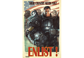 Fallout 4 Poster Enlist! Your Country Needs You!