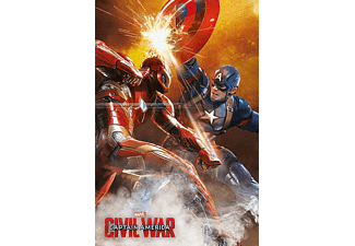Captain America Civil War Poster Fight